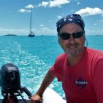 capt bob damiano in bahamas with argon in background