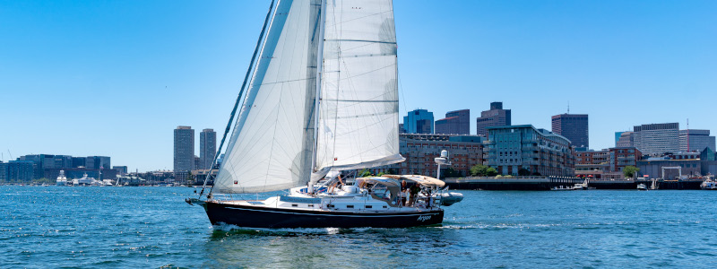 sailing with passengers in boston